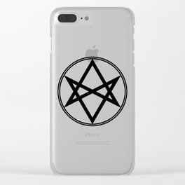 Men of Letters Symbol Black Clear iPhone Case