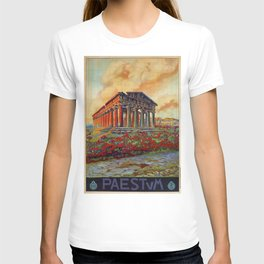 Paestum ancient Greek temple T-shirt