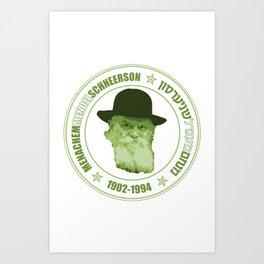 Menachem Mendel Schneerson Art Print