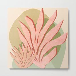 Pink Seagrass Metal Print