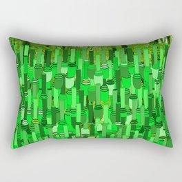Fortified Border - Green Glow Rectangular Pillow