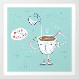 Coffee Buzz Art Print