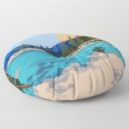 Sand Harbor Lake Tahoe Floor Pillow
