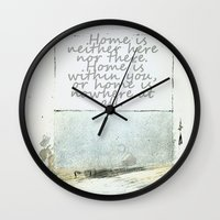 degas Wall Clocks featuring Hesse speaks by anipani