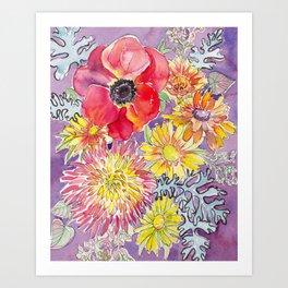 Mum and Poppy Art Print