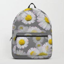 GREY GARDEN OF SHASTA DAISY FLOWERS ART Backpack