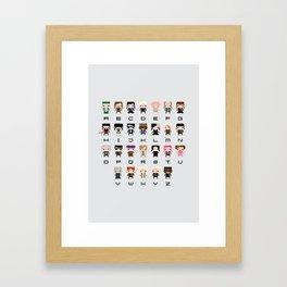 Harry Potter Alphabet Framed Art Print