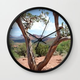 Arizona Horizon - Sedona Red Rocks Wall Clock