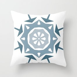 Geometric Arrow and Diamonds in Blues Throw Pillow