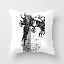 Over knees Throw Pillow