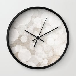 Plaster Bubbles Wall Clock