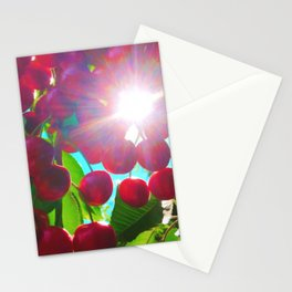 Summer Cherries Stationery Cards