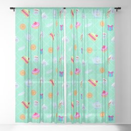 Alice in Wonderland - Tea Party Sheer Curtain