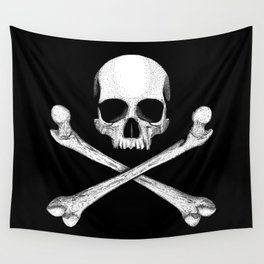 Jolly Roger - Pirate Hatching Wall Tapestry