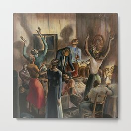 Classical African American Landscape 'Oh, Lord Jehovah, in Heaven' by Charles Alston Metal Print