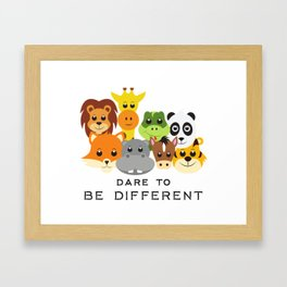 Dare to Be Different Gang of Animals Framed Art Print