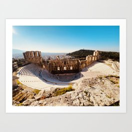 Odeon of Herodes Atticus, Ancient Greece, Greece photo, Herodeion, Herodion, Greek, Greece love Art Print