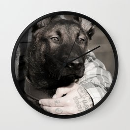 Love and protection for humans and animals Wall Clock