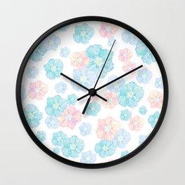 Blossoms Pastel  Wall Clock