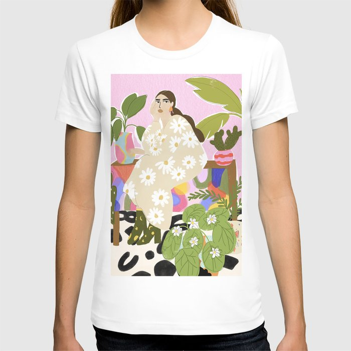 Hanging out with plants T-shirt