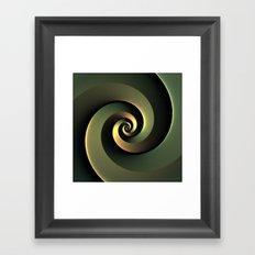 Dark Spiral Framed Art Print
