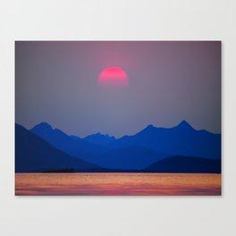 The Midnight Sun Canvas Print