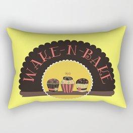Wake And Bake Chocolate Cupcakes Art Print Home Decor Kitchen Cook Cake Modern Wall Design Sweet Rectangular Pillow
