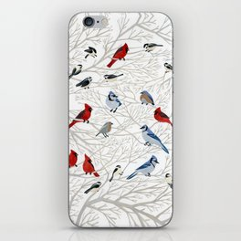Winter Birds iPhone Skin