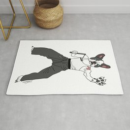 Kungfu Bulldog Lee Rug