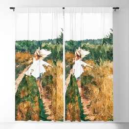 Free Spirit || #painting #nature Blackout Curtain