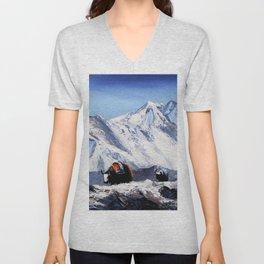 Black Yak On Everest Base Camp Unisex V-Neck