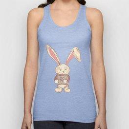 Christmas cute hare. Winter design illustration Unisex Tank Top