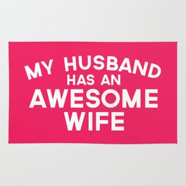 Husband Awesome Wife Quote Rug