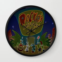 Rocko And The Crew Wall Clock