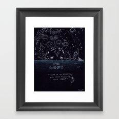 I Am Lost Framed Art Print