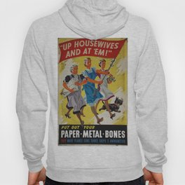 Vintage poster - Up Housewives and at'em Hoody