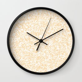 Tiny Spots - White and Sunset Orange Wall Clock