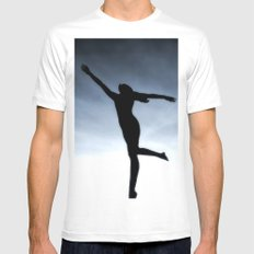 Dance to the light fantastic (Nude) White Mens Fitted Tee MEDIUM