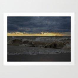 Waves & Storm 3 Art Print