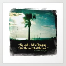 Secret of the sea Art Print