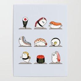 Sushi Yoga Poster