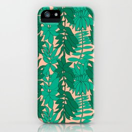 60's Chinoiserie Vines in Peach iPhone Case