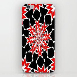 Bizarre Red Black and White Pattern 2 iPhone Skin