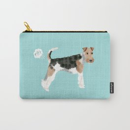 wire fox terrier funny farting dog breed pure breed pet gifts Carry-All Pouch