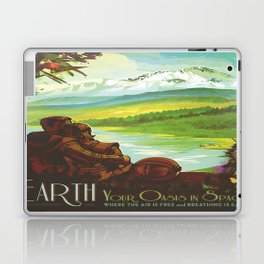 Earth Retro Space Poster Laptop & iPad Skin
