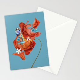 Rose and nightingale Stationery Cards