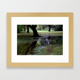 water is so beautiful Framed Art Print