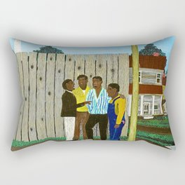 American American Masterpiece 'Harmonizing' portrait painting by Horace Pippin Rectangular Pillow