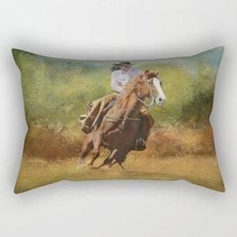 Working Girl Rectangular Pillow