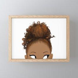 Peek Framed Mini Art Print
